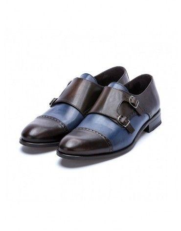 Marrón Sergio AzulChopo Zapatos Serrano Hebilla Y H9W2IDYE