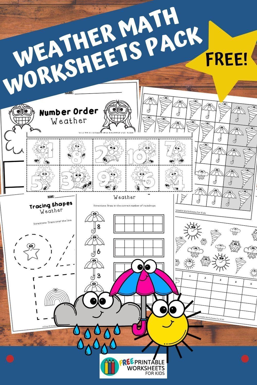 Weather Math Worksheets Pack Kids Worksheets Printables Business For Kids Math Worksheets [ 1500 x 1000 Pixel ]