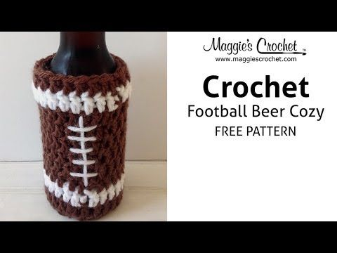 Maggie\'s Crochet · Father\'s Day Football Beer Cozy - Free Crochet ...