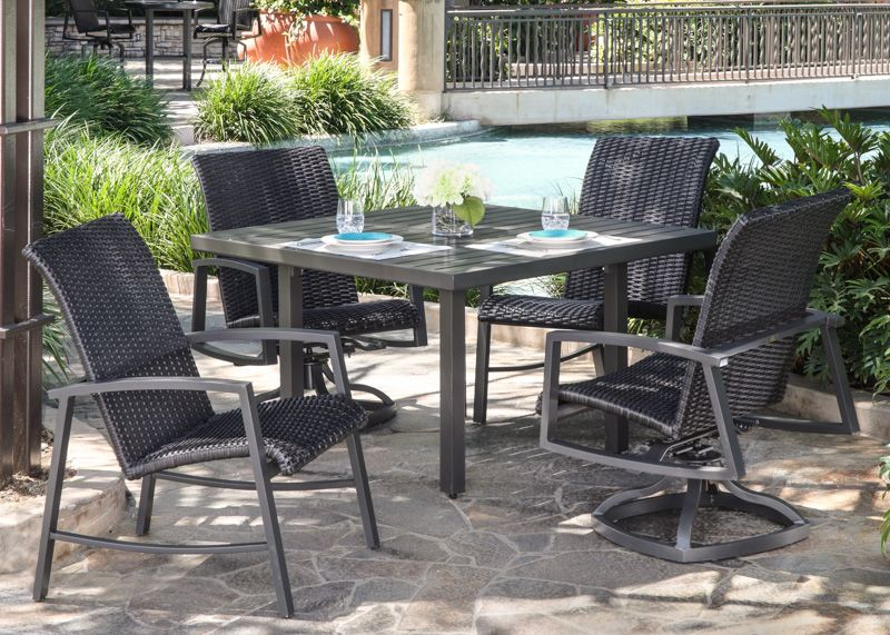 Woven Dining Chairs Outdoor, California Patio Furniture