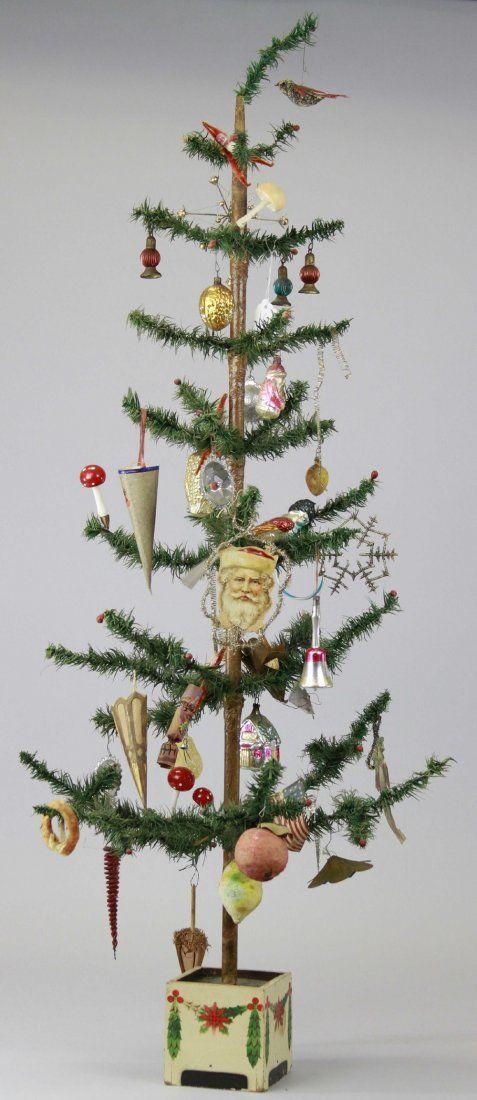 German feather tree trish papadakos wroblewski our german for Antique christmas tree decoration