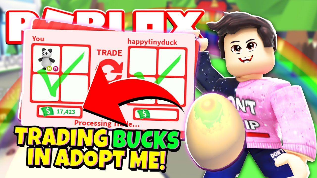 We Can Finally Trade Bucks In Adopt Me New Adopt Me Pet Accessory Updat In 2020 Roblox Roblox Pictures Adoption