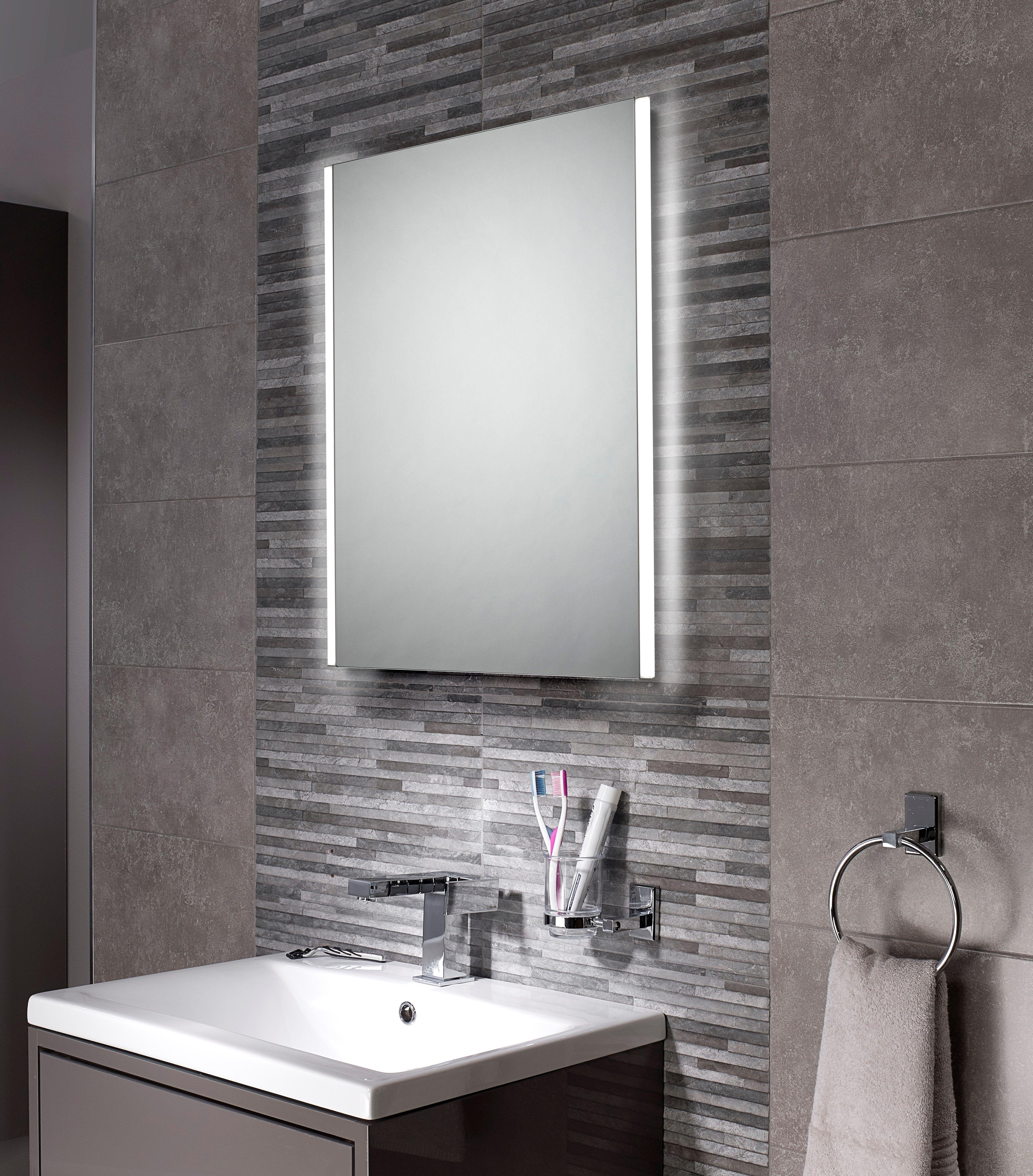 Carina Led Illuminated Bathroom Mirror With Demister Pads 390 X