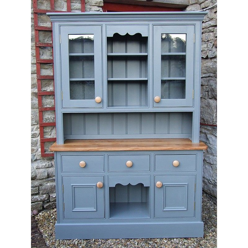 Painted welsh dresser with dog kennel base and glazed door top w painted welsh dresser with dog kennel base and glazed door top w4 planetlyrics Gallery