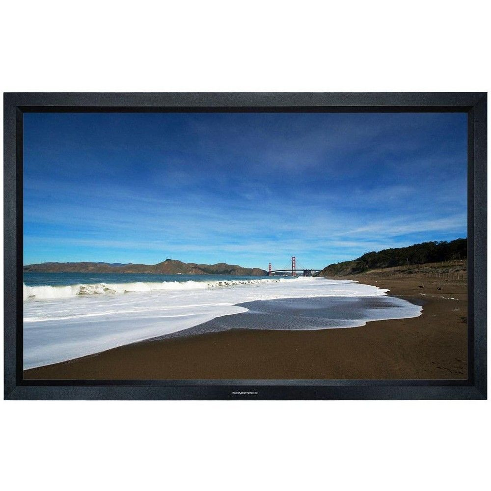 Fixed Frame Projection Screen Hd White Fabric 106 Inch 16 9 Adult Unisex In 2020 Projection Screen Home Theater Outdoor