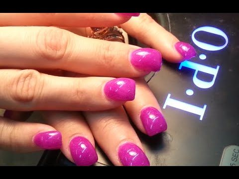 how to acrylic hump nails and gels polish  curved nails