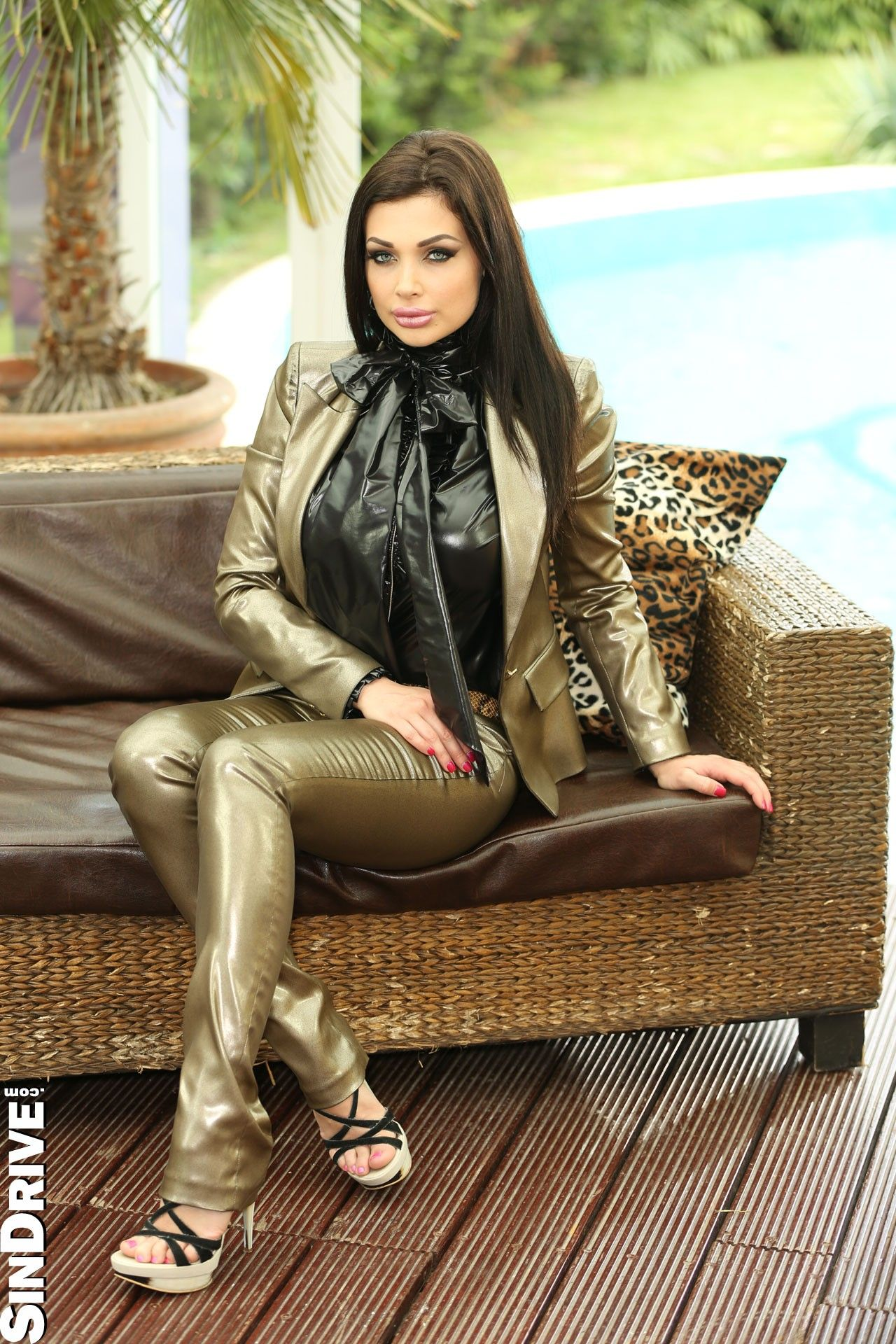Latex Jacket Shirt And Jeans Latex Pvc And Shiny