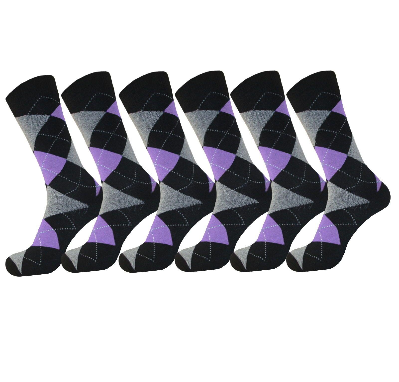 Purple dress socks   Pk Argyle Diamond PURPLE Wedding Dress Socks Fashion Cotton Blend
