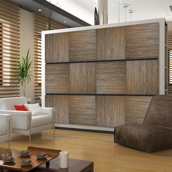 Deflecto Decorative Wall Panel in Zebrano. Make a dramatic ...