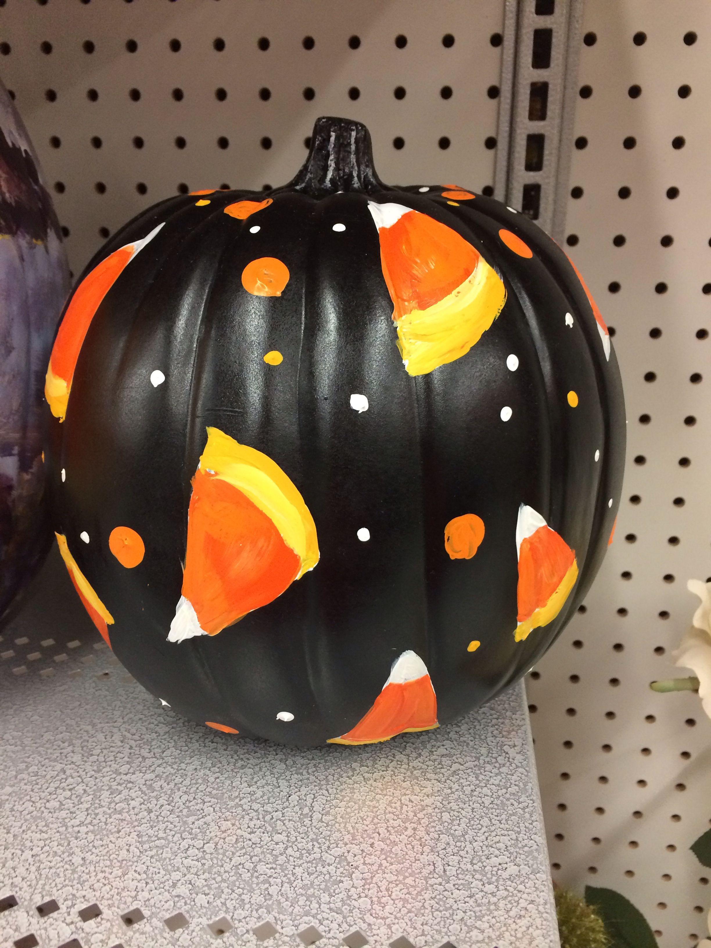 Candy corn pumpkin pumpkinpaintingideas Pumpkin
