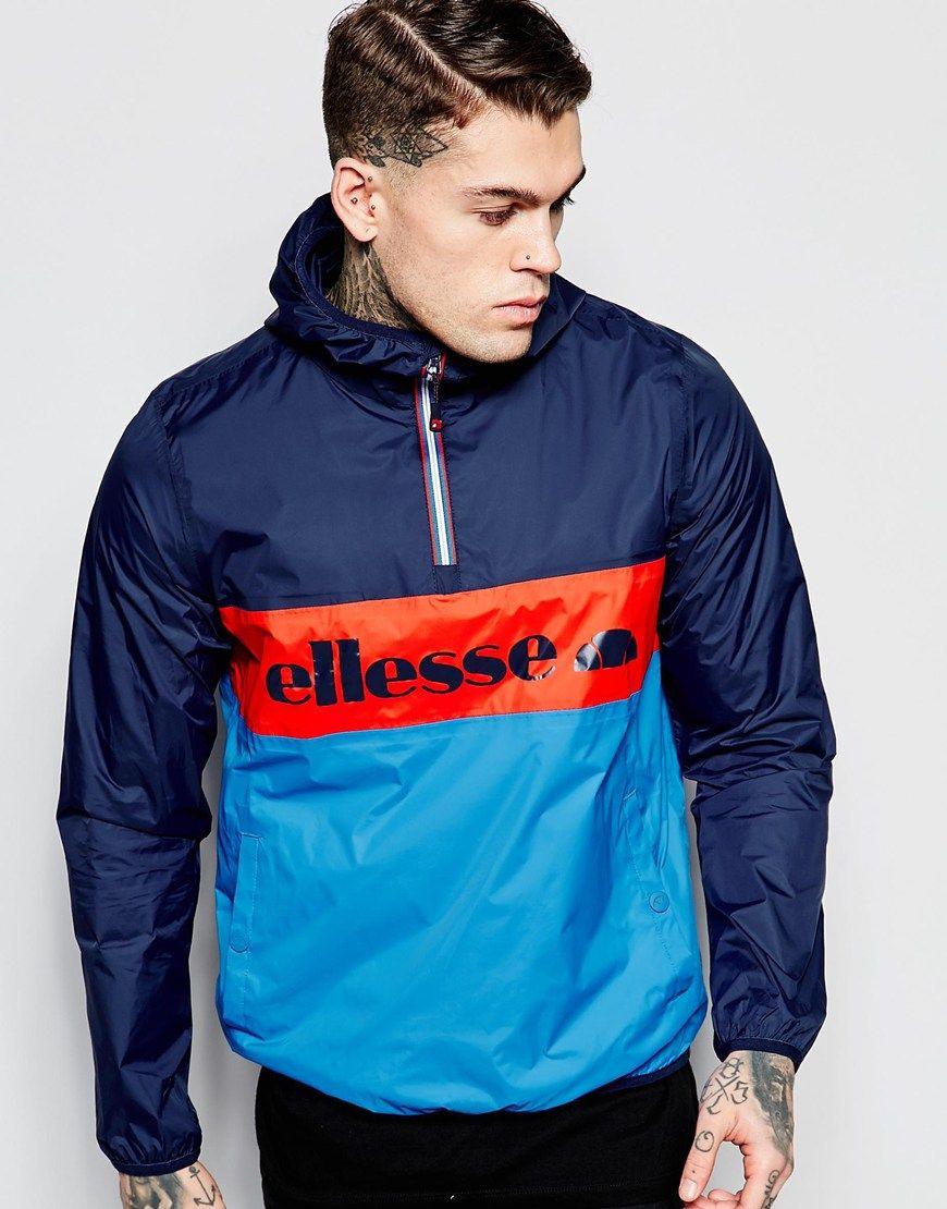 image 1 of ellesse overhead jacket with logo wind pinterest ellesse hypebeast and men 39 s. Black Bedroom Furniture Sets. Home Design Ideas