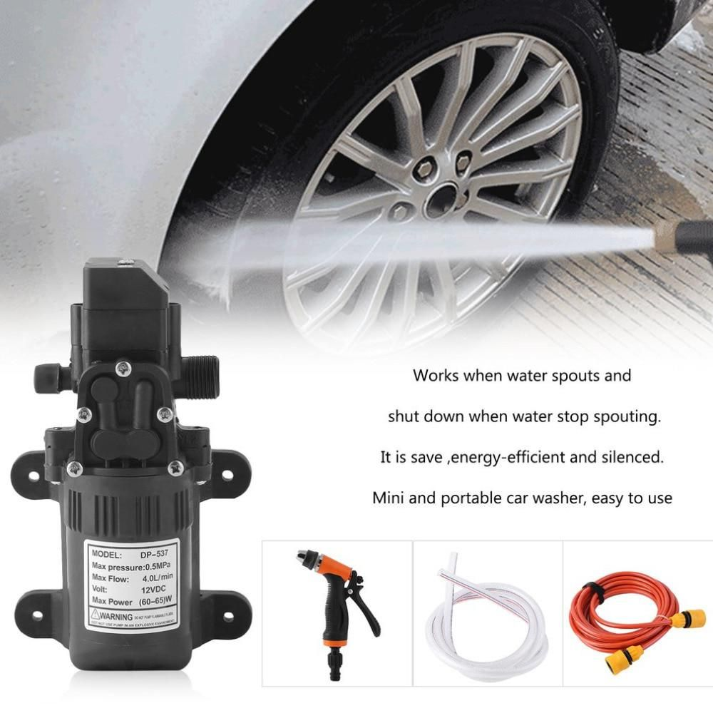 Portable Car Washer Household High Pressure Electric Car Wash Washer 4l Min Self Priming Water Pump 12v Car Washer Wash Portable Car Washer Car Wash Car Washer