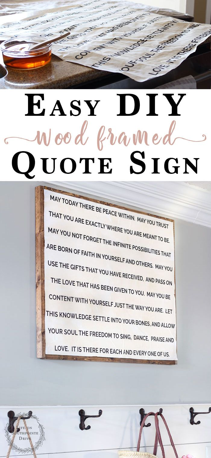 Easy diy quote sign wall art ideas pinterest framed quotes