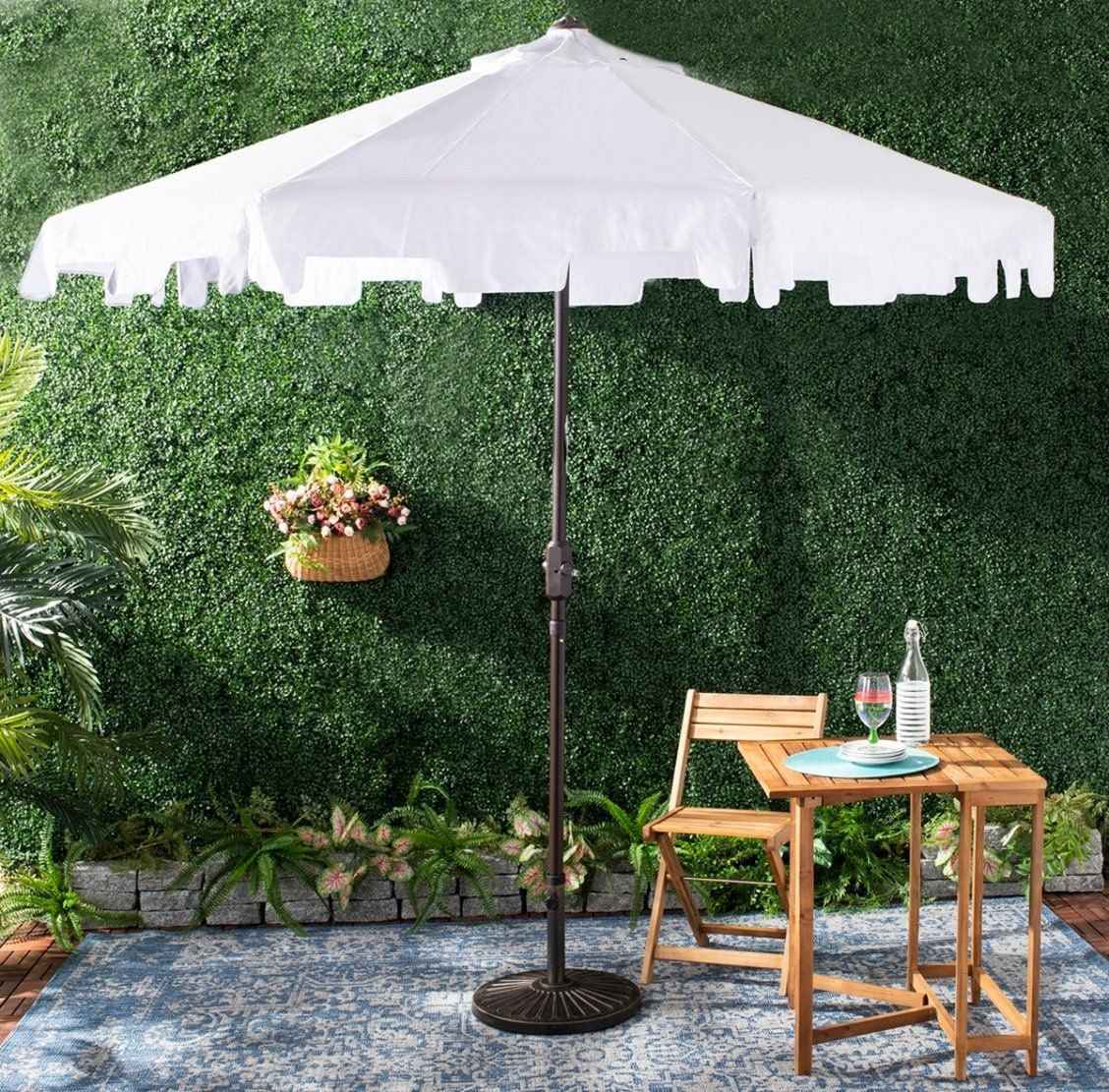 A Classic Market Umbrella Gets A Chic Makeover With Fashion