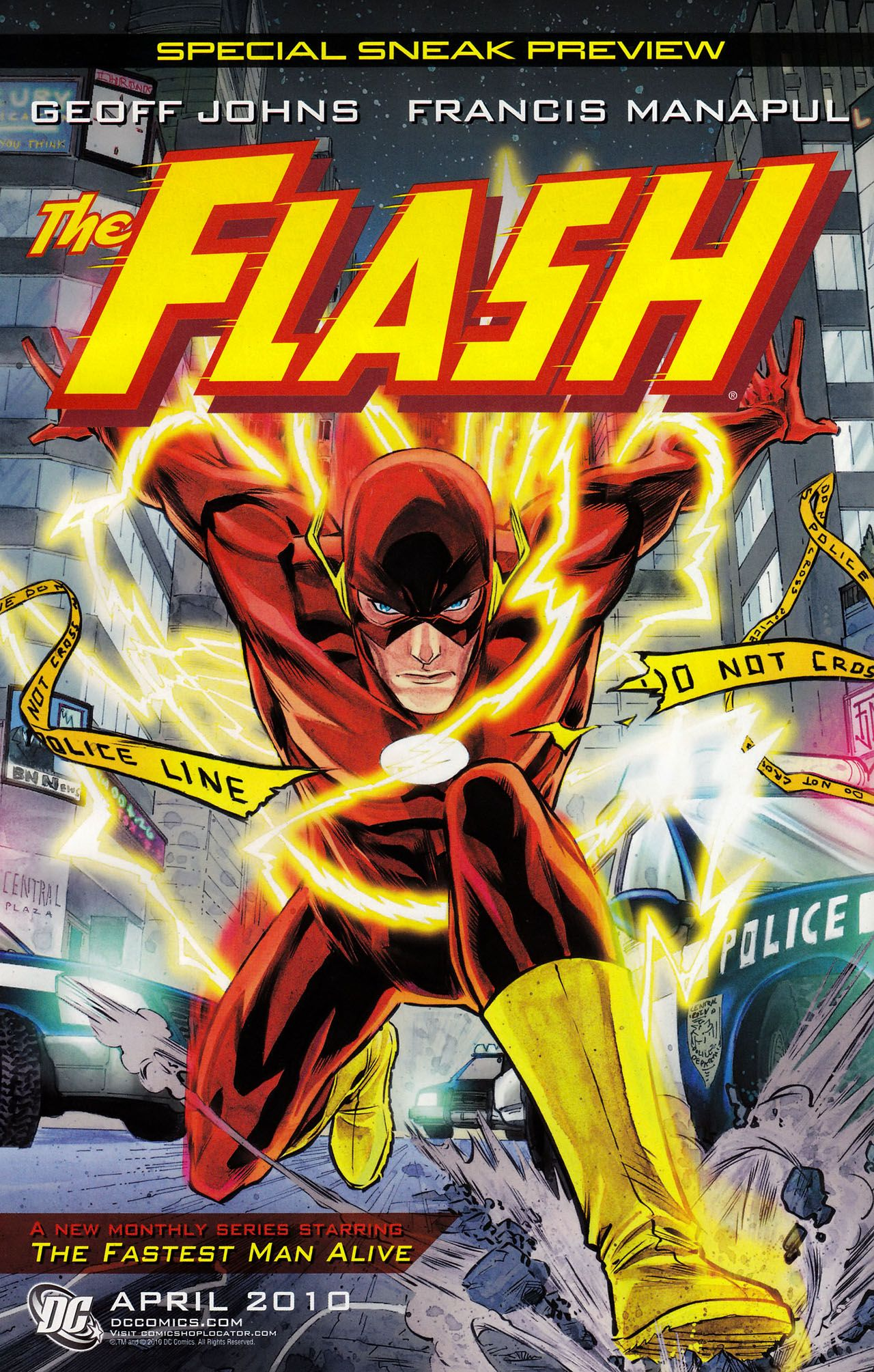 Flash Comic Book Cover