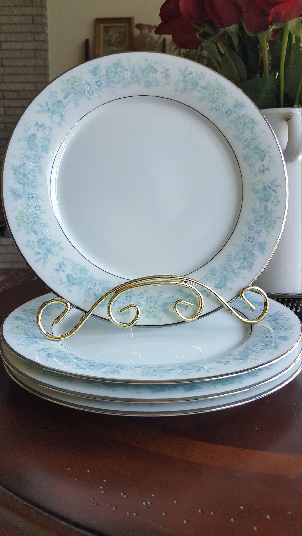 Noritake Milford Salad Plate High End Blue Green Floral With Platinum Trim Luxury Dinnerware Replacement China Wedding China Classy Tea Wedding China Dinnerware Plates