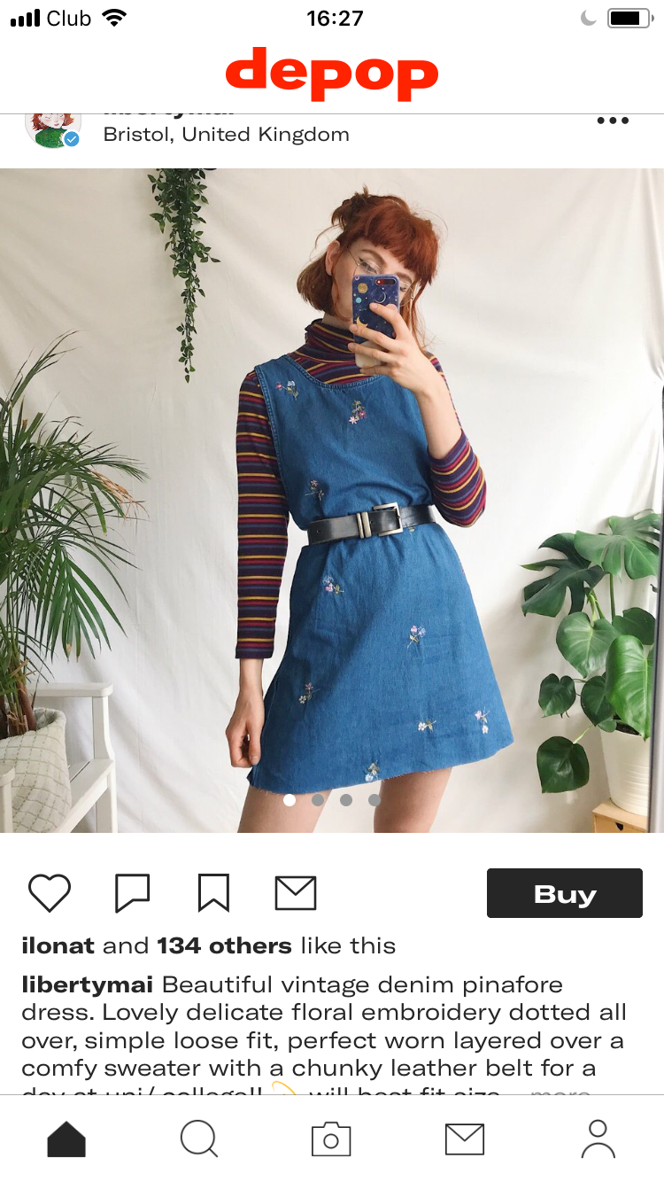 1b968e384 Pin by Happy Birthday Andy on Depop product shots   High waisted skirt, Denim  skirt, Skirts