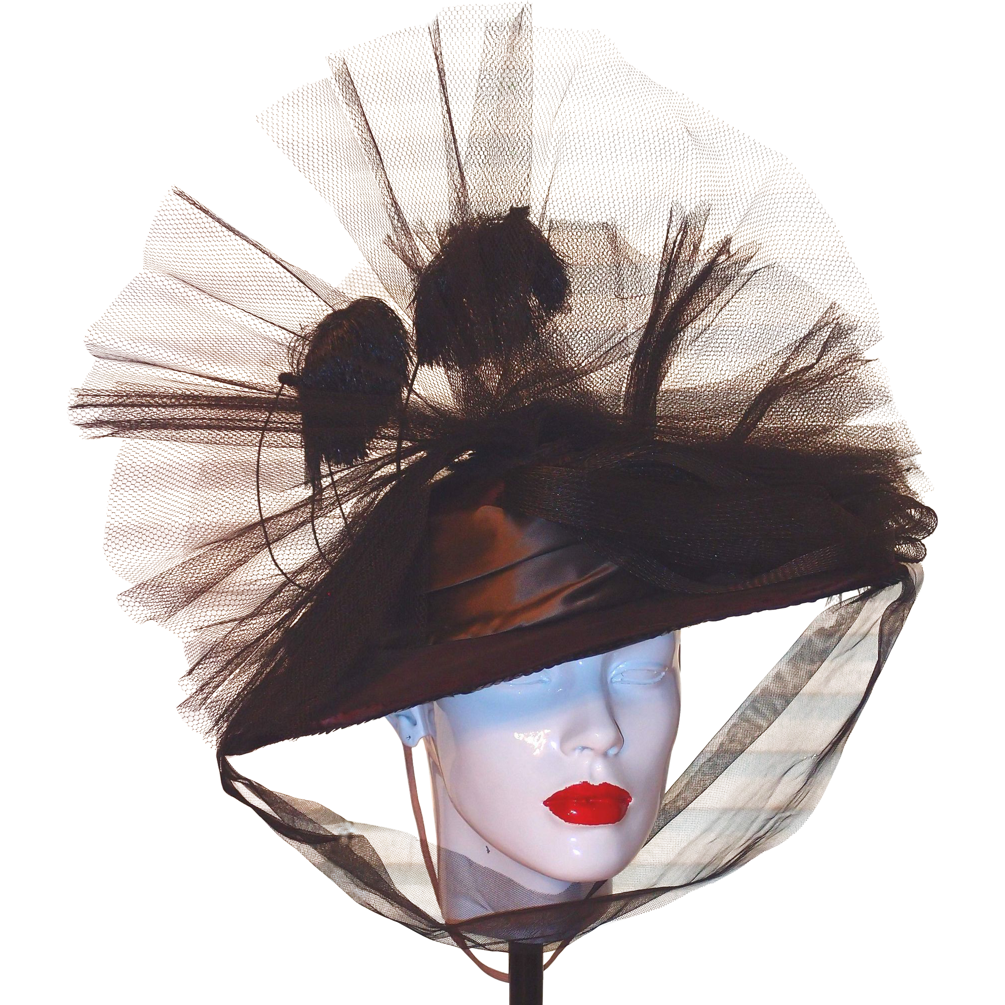 cd6c2250aee Original Theater Hat from 1940 s by Designer M. Richardson for a Federico  Fellini Movie Production.