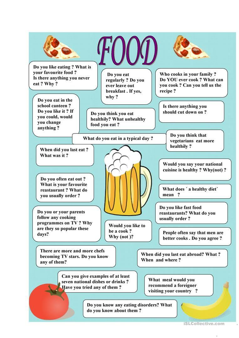 Food - speaking worksheet - Free ESL printable worksheets made by ...