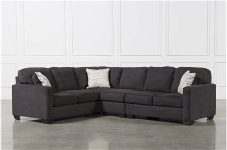 Best Alenya Charcoal 3 Piece Sectional W Raf Loveseat Main 400 x 300