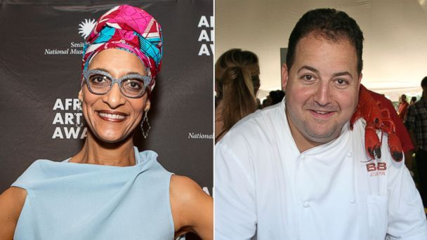 Photo of Carla Hall and Josh Capon dish their best grilled recipes for 'GMA'