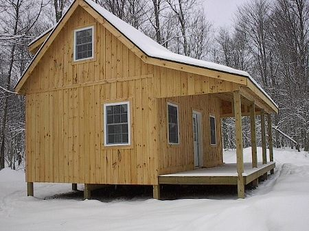 Small cabin plans on pinterest cabin plans small cabins for Tiny cabin plans with loft