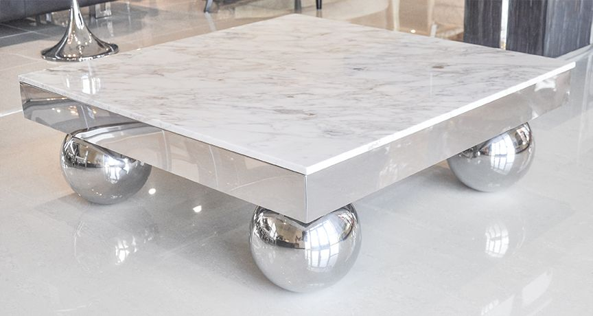 Coffee Tables Design Stainless Steel Marble Coffee Tables