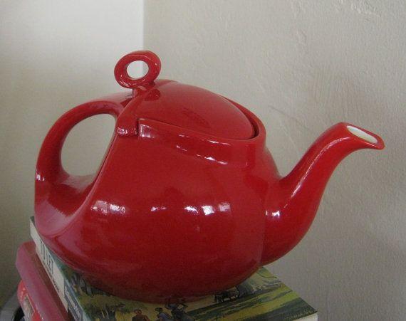Vintage Hall Streamline Teapot  Vintage by littlextrasthatcount,