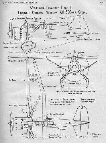 Vintage WW2 1940s Original Scale Plans Blue Prints Model Aircraft /& Helicopters
