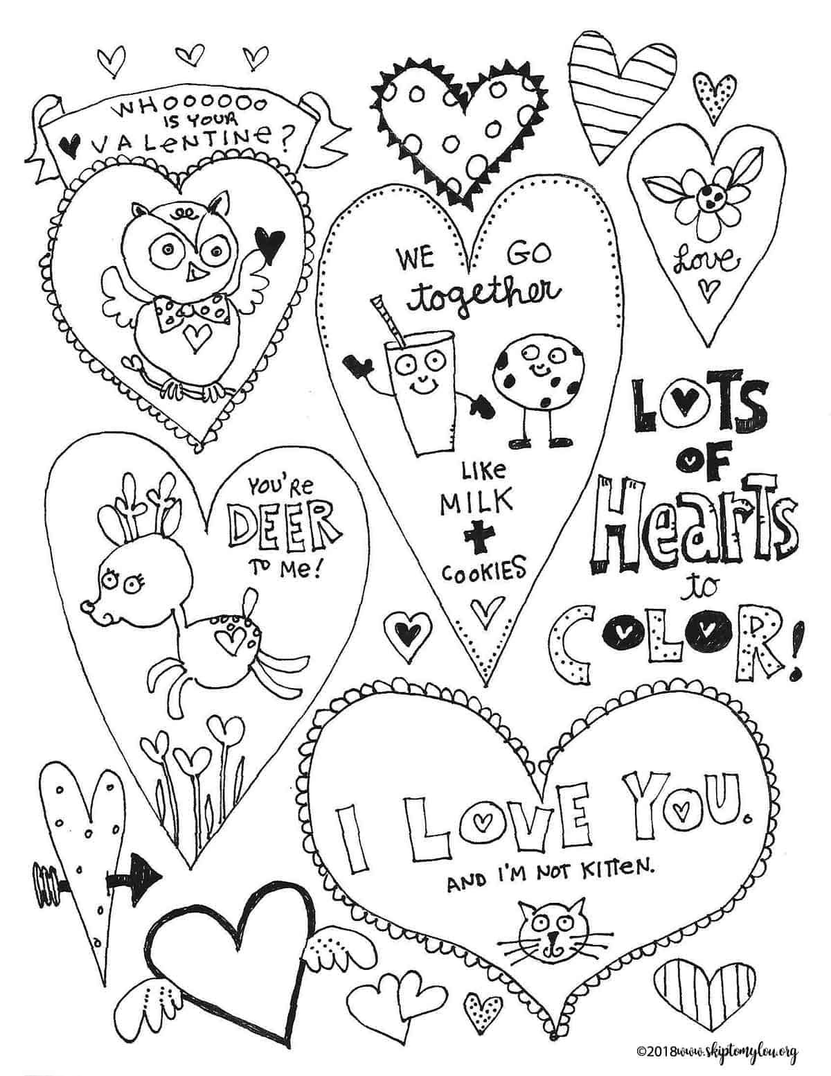 Free Printable Heart Coloring Pages For Valentine's Day. Coloring