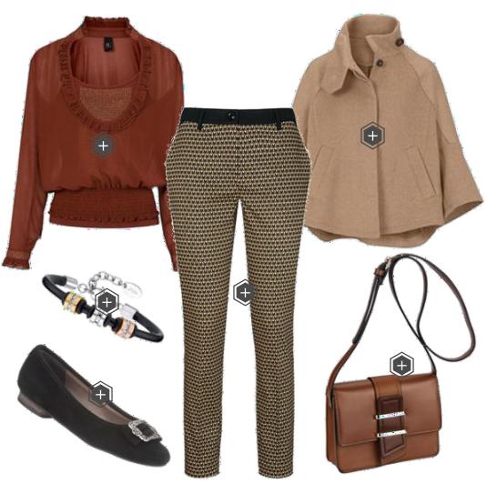 f2d4cb636cf853 heine TIMELESS Damen Druckhose Frau, Business-outfits, Lässiger Look, Mode  2018