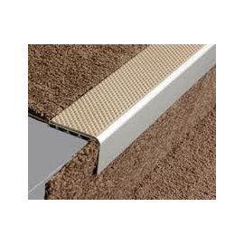 Best Aluminium Square Anti Slip Carpet Stair Edge Nosing 2 5M 640 x 480