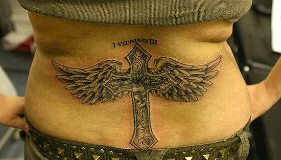0aa97fed53214 Cool Tribal Cross Tattoos: Angel Wing Cross Tattoos For Girls ~ Cvcaz  Tattoo Art Ideas ~ Tattoo Design Inspiration