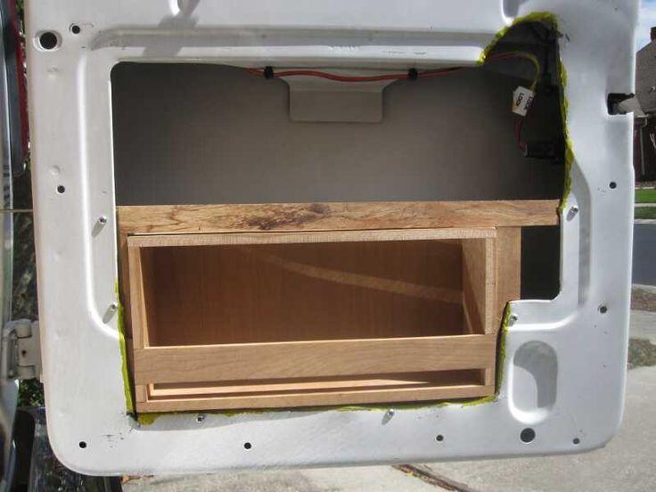 Vysledek Obrazku Pro Van Conversion Rear Door Panel Camper Van Kitchen Camper Conversion Mercedes Vito Camper