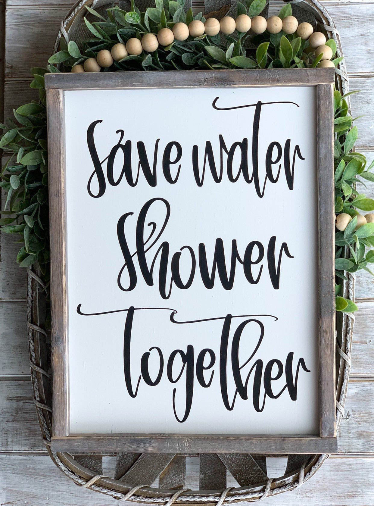Photo of Farmhouse Decor | Farmhouse Wall Decor | Farmhouse Signs | Save Water Shower Together Sign | Funny Bathroom Signs | Home Decor