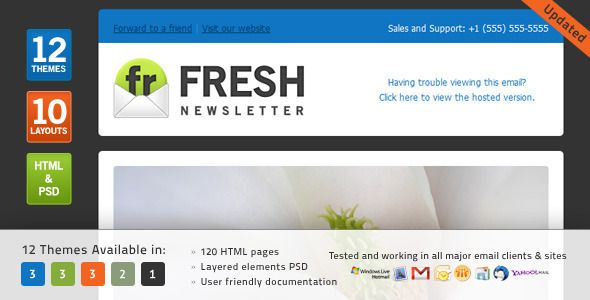 Fresh Newsletter Hybrid Email Template Access To Gifky Layout - Hybrid email template