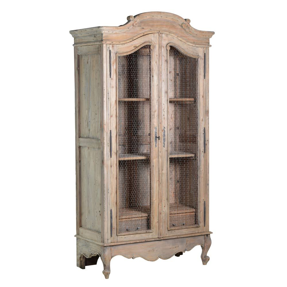 Chateauneuf rustic wood french armoire armoires french armoire