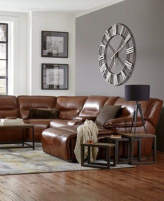 Beckett Leather Power Reclining Sectional Collection Furniture