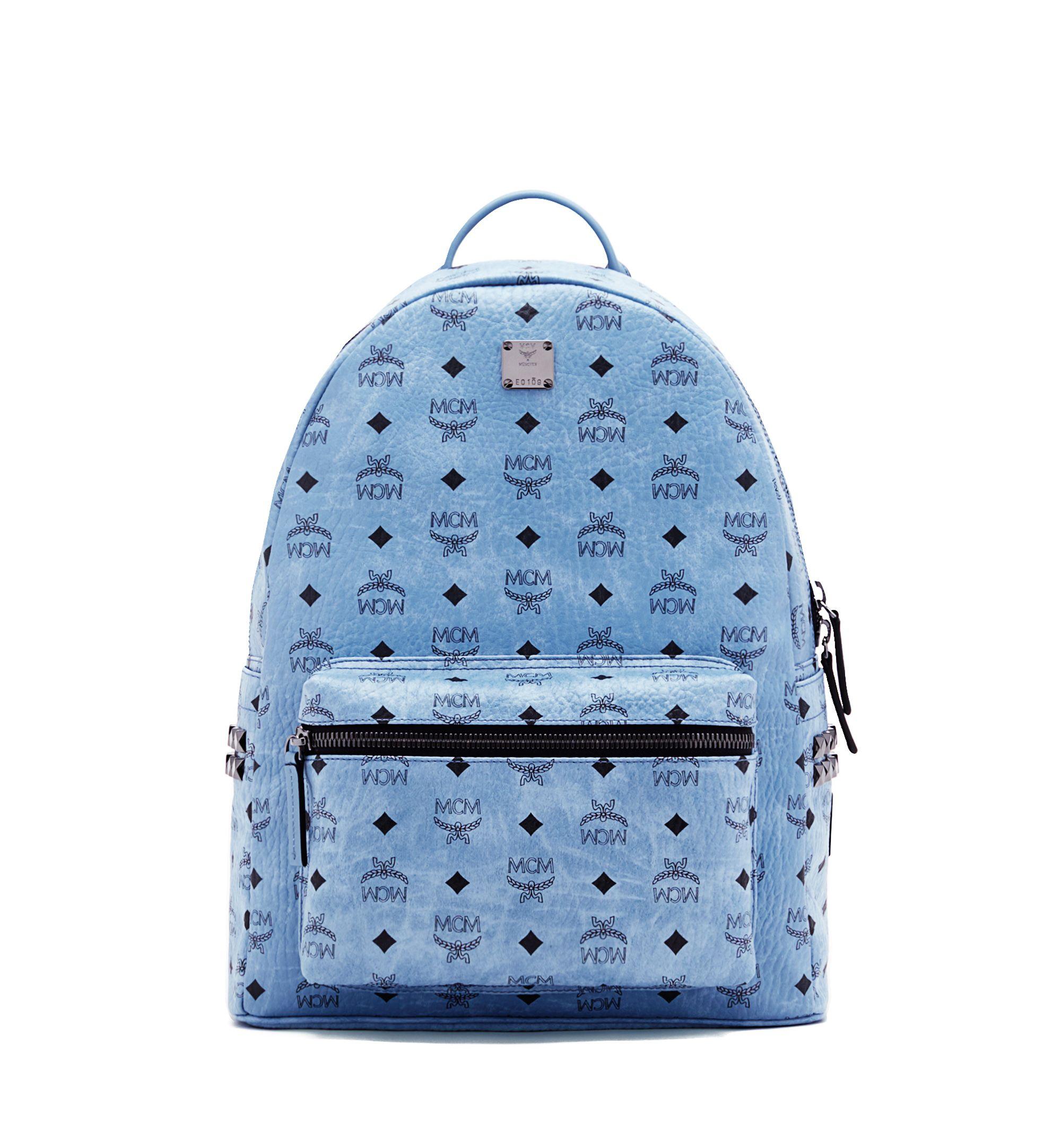 Stark Backpack In Side Studded Visetos Studded Backpack Monogram Backpack Mcm Backpack