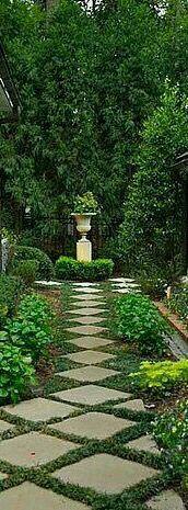 Co Co's Collection: Formal garden elevates small space # formal # garden # elegant # NOLA # Courtyard #brick #driveway