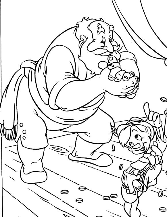 A Very Funny Puppet Pinocchio Coloring Pages | Coloring pages ...
