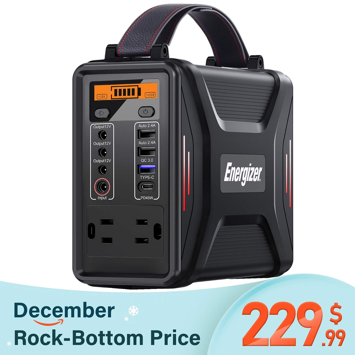 Energizer Portable Power Station Pd 45w Type C Fast Charging Power Supply 240wh 75000mah 110v 200w Portable Power Camping Power Power Station