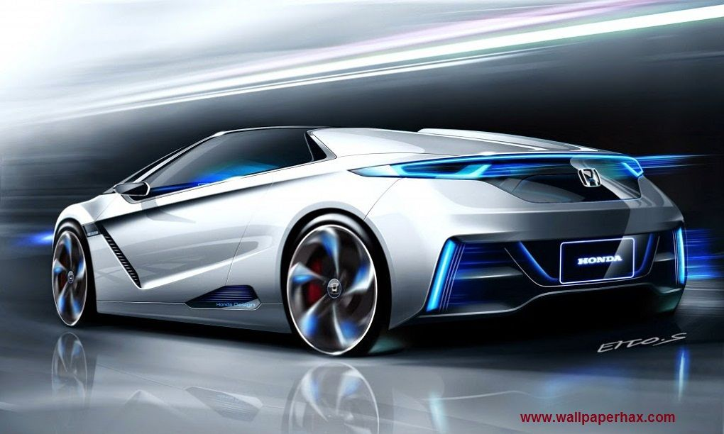 New Sports Car Wallpaper 3d Futuristic Cars Honda Sports Car