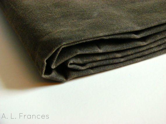 Hand Waxed Cotton Canvas Fabric 12 Yard Earth Brown 12oz 56