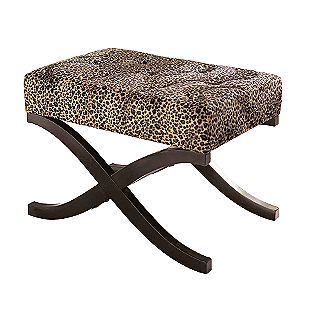 Groovy Leopard Animal Print Accent Stool Essential Home For The Cjindustries Chair Design For Home Cjindustriesco