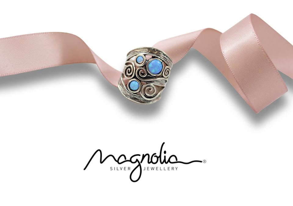 Opal ring by Magnolia Silver Jewellery