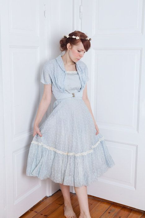 1950's prom wedding cocktail tulle wonderland dress by silversaga, $110.00