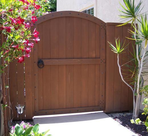 Wood Gates - Arched - Yard - Custom Redwood - See-Through - Entrance - Gate Photo Gallery & backyard wood gates - Google Search | Gates | Pinterest | Wood ... Pezcame.Com