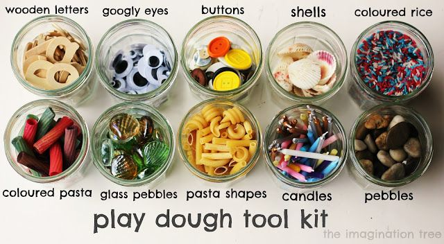 Play dough is great but even more fun with these items above