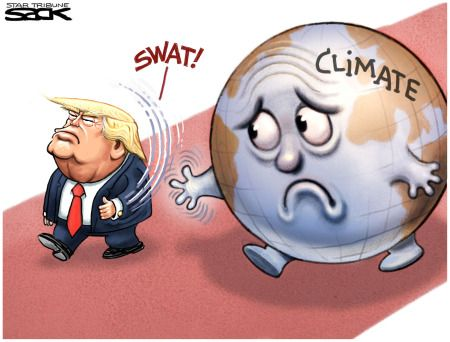 Image result for trump climate cartoon
